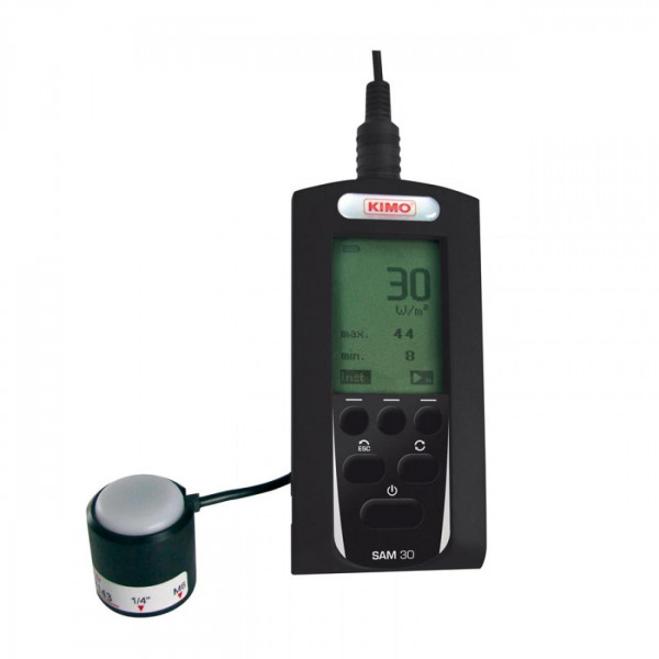Medidor solar portátil con registrador y software