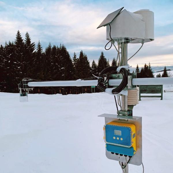 Detector snow depth ultrasonic