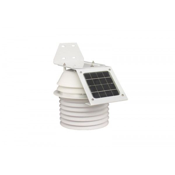 Sonde de température et d'humidité avec abri anti-radiation à alimentation solaire et à ventilation 24h/24