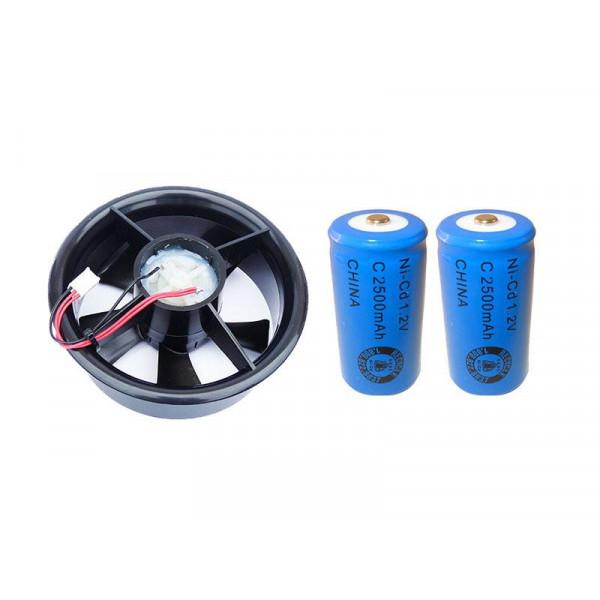 Ventilador de refugio de ventilación activa con baterías