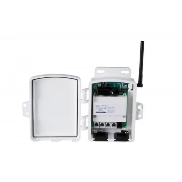 Transmisor de radio con adaptador de corriente
