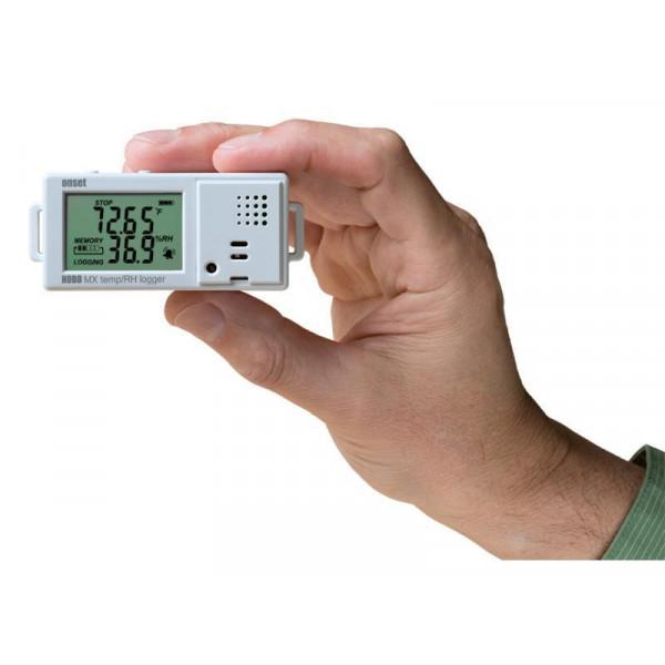 Registrador de temperatura y humedad relativa con pantalla Bluetooth