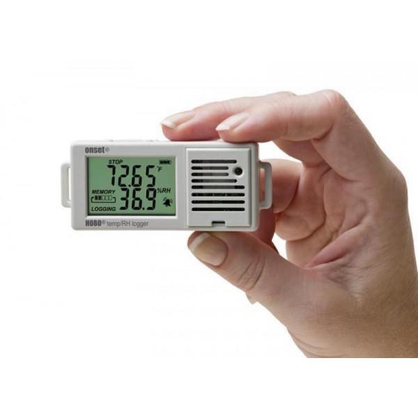 Registrador de temperatura y humedad relativa con pantalla