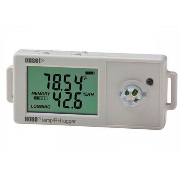 Registrador de temperatura y humedad relativa de precisión con pantalla