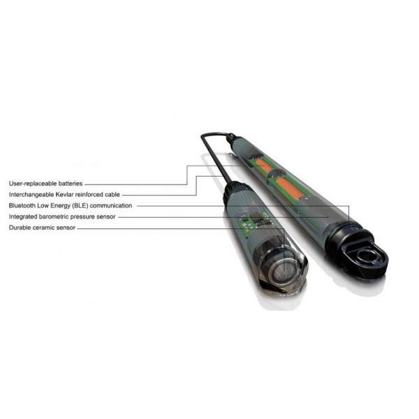Bluetooth saltwater level recorder in titanuim (4 meters)