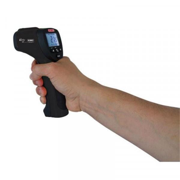 Thermomètre infrarouge -50 à 800°C avec sonde thermocouple K