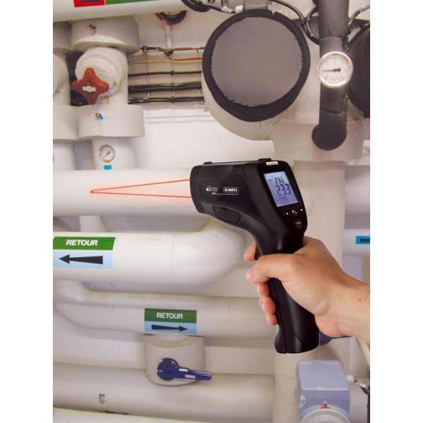 Termómetro de infrarrojos -50 a 1850°C con sonda termopar K
