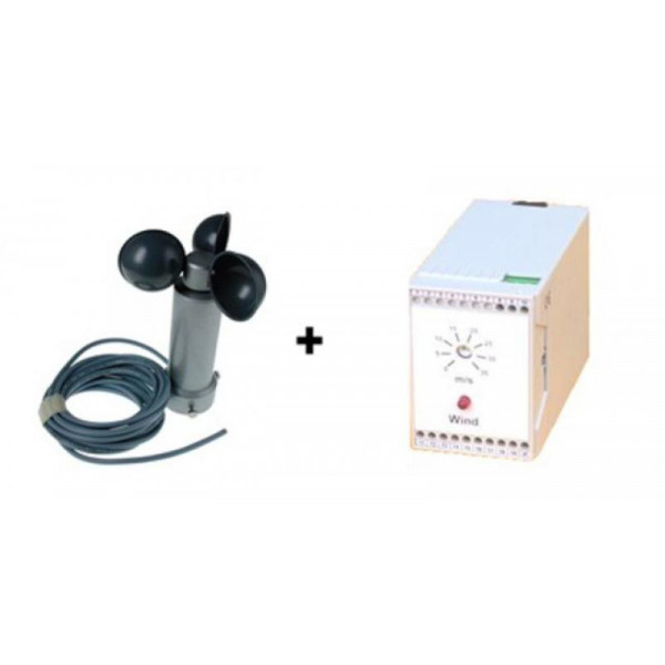 Cup anemometer with on/off control