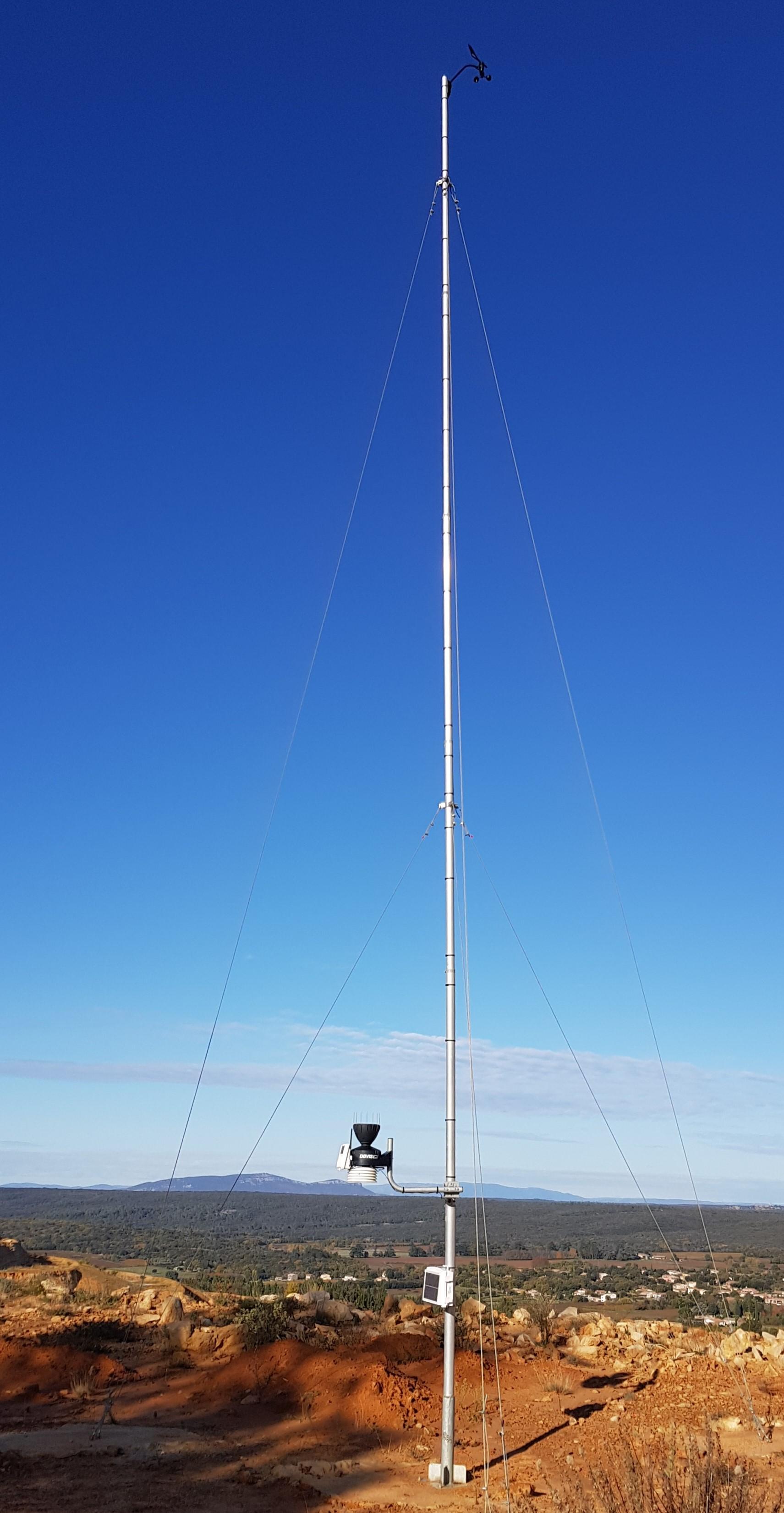 Installation station météo 10 mètres